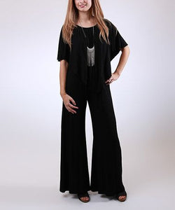 3 Way Jumpsuit in Solid Black