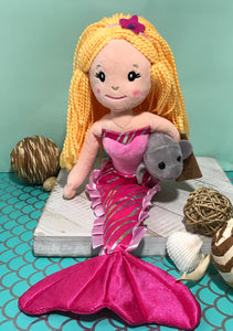 Mermaid Doll with Manatee Friend (assorted)