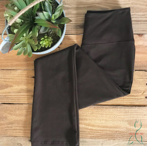 Cotton Boot Cut Legging in Espresso