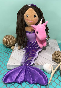 Mermaid Doll with Unicorn Friend (assorted)