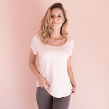 Bamboo Short Sleeve T Shirt in Blush Pink