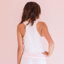 Bamboo T-Back Tank in Blush Pink