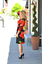 Red Poppy Wrap Dress