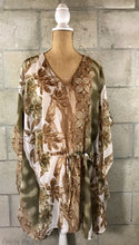 Kimono Cover-Up in Brown/Gold