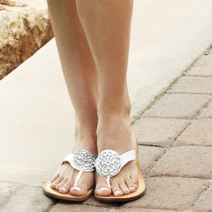 Alice Sandals in White