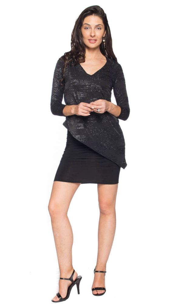 Glitter Miracle Dress/Tunic in Black