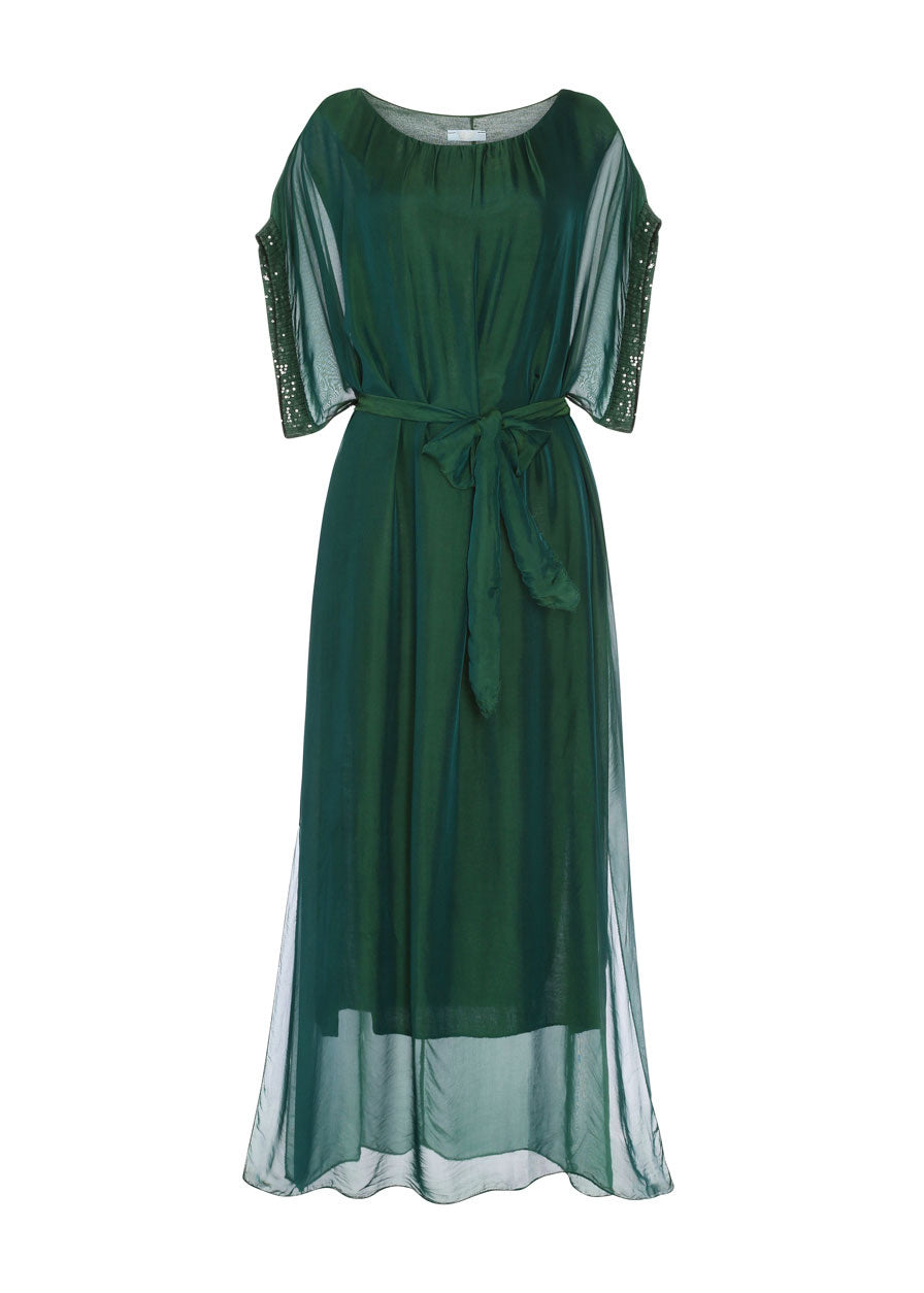 Emerald Belted Dress