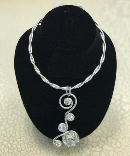 Silver Scroll Swarovski Choker