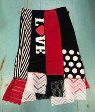 Red & Black The Beatles Car Wash Skirt