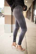 Velvet Leggings in Grey