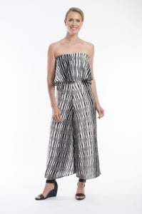 Murano Sleeveless Jumpsuit Black/White