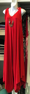 Wide Leg Tie Top Jumpsuit in Red
