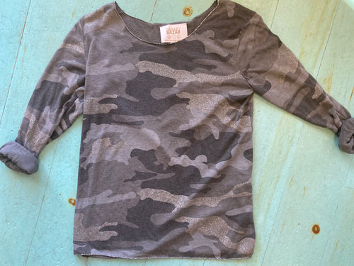 Long Sleeve Camo Top