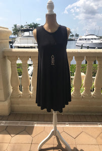 Sleeveless Swing Dress in Black