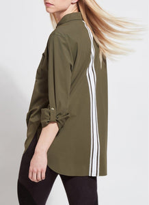 Delancey Blouse in Olive