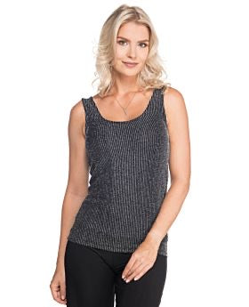 Silver Stripe Scoop Neck Tank