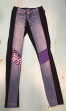 Pink & Purple Patch Skinny Leg Jean