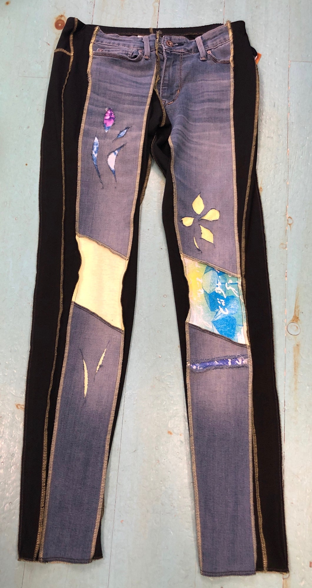 Pastel Floral Patch Holy Grail Jean