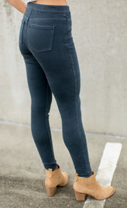 Jean-ish® Ankle Leggings in Dark Blue
