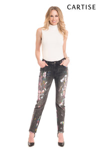 Painted Jeans in Black