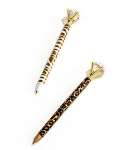 Diamond Animal Print Pen (assorted)