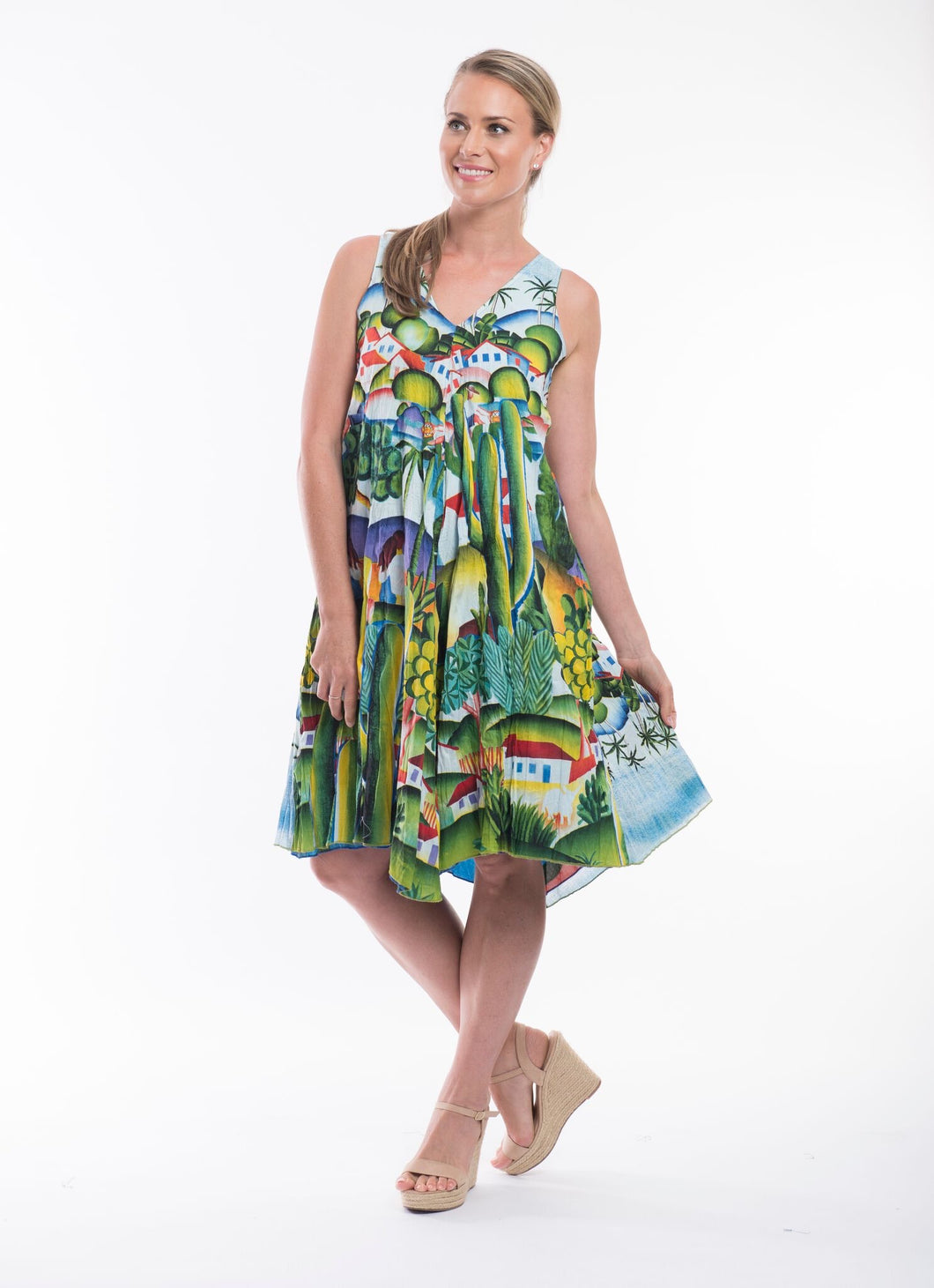 Reversible Sleeveless Island Dress