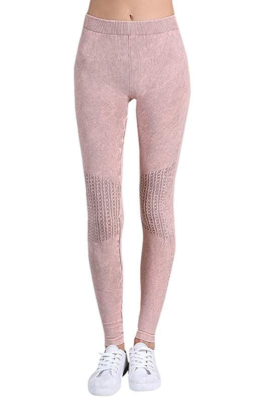 Vintage Knee Shirring Legging in Rose Quartz