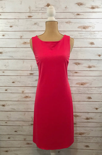 Sleeveless Tank Dress in Pomegranate