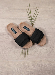 Hemp Bamboo Slides in Black