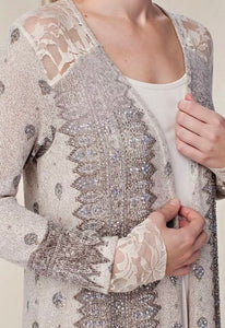 Lace & Stones Embellished Duster