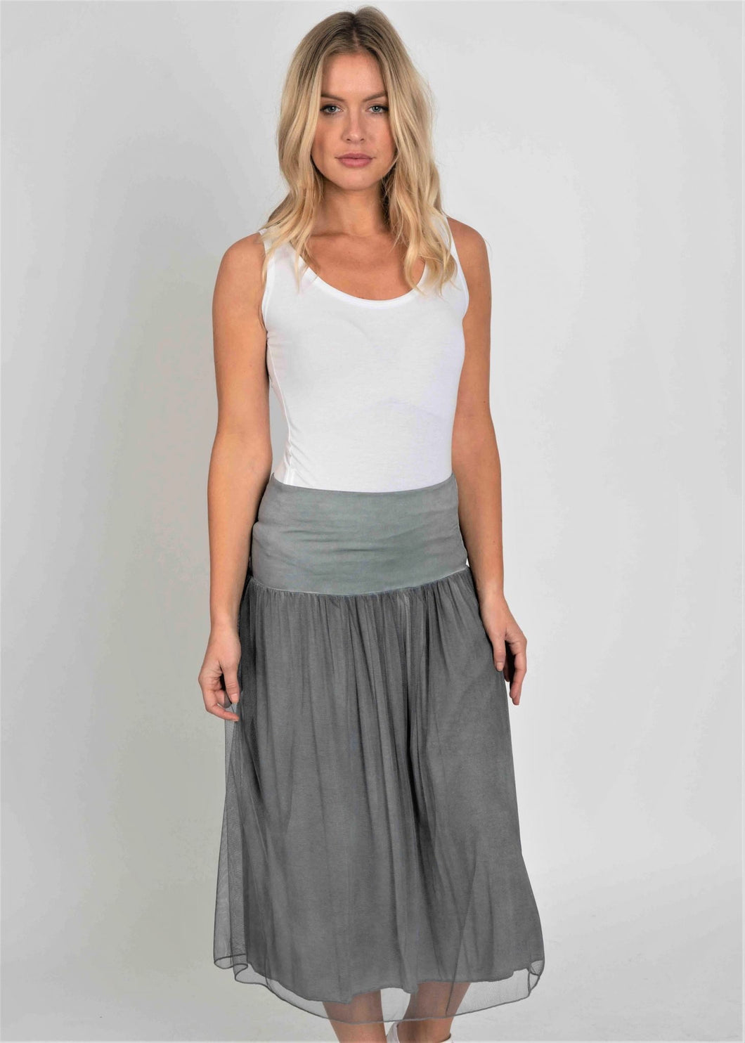 Double Layer Skirt with Netting