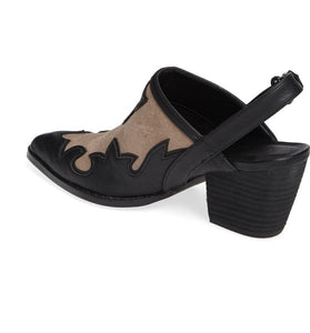 Long Road Slingback Mule in Black