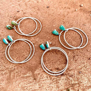 Freeform Twist Hoops Earrings