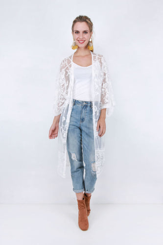 Wilderstein White Lace Duster
