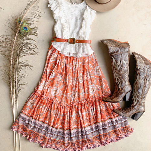 Orange Blossom Skirt