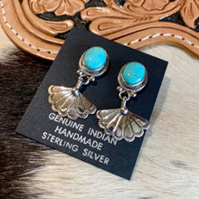 Turquoise Shell Drop Earrings