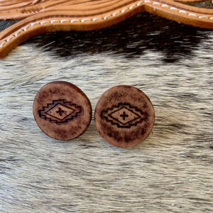 Embossed Leather Studs