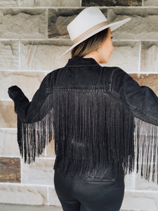 Mercedes Denim Fringe Jacket