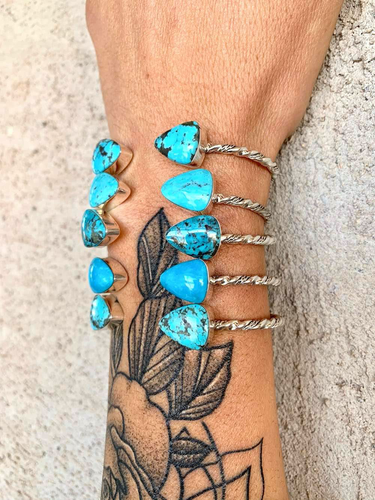Twisted Triangle Turquoise Cuff