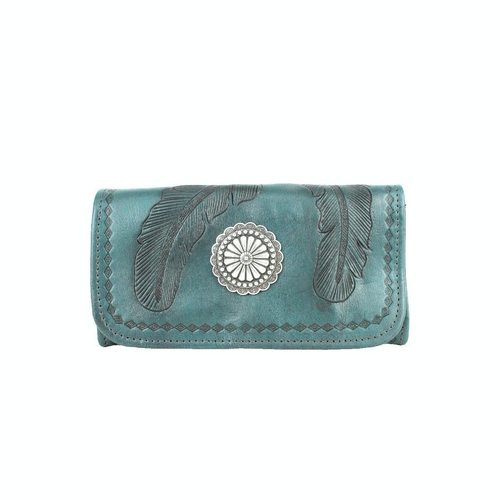 Turquoise & Concho Wallet by American West