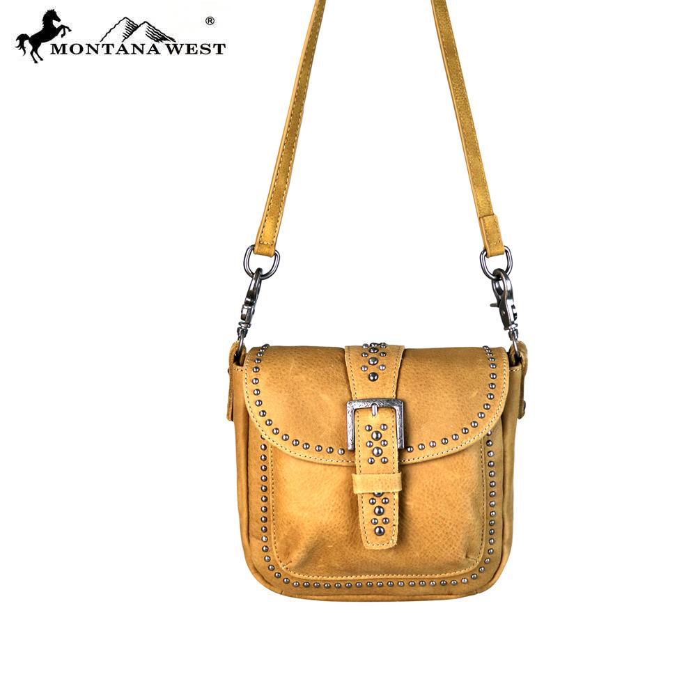 Montana West Genuine Leather Crossbody bag