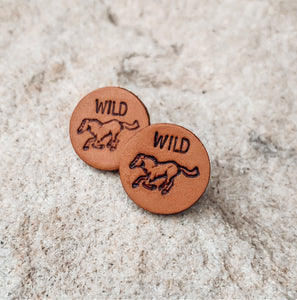 WILD horse Leather Studs