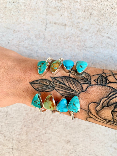 Twisted Green Turquoise Cuff