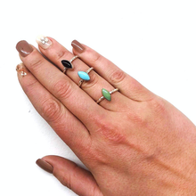 Marquise Turquoise Stacker Ring