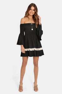 Sahara Tunic Dress Black