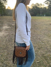 Montana West Genuine Leather Fringe Crossbody