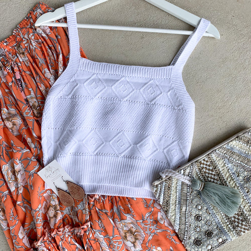 Aztec Crochet Crop