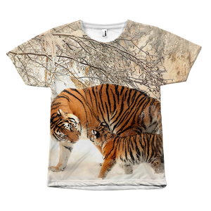 Adult tiger with its cub Tee (Unisex)