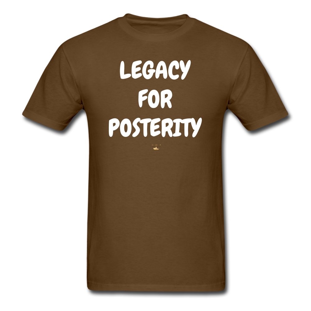 LEGACY FOR POSTERITY T-Shirt - brown