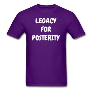 LEGACY FOR POSTERITY T-Shirt - purple